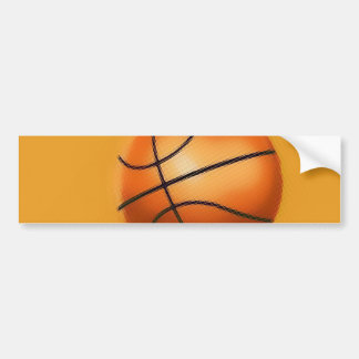 Tile Effect Basketball Bumper Sticker