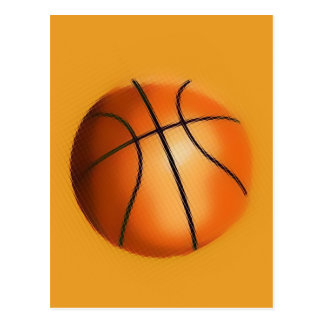 Tile Effect Basketball Postcard