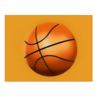 Tile Effect Basketball Postcard