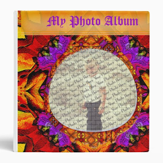 "Tile Flower Customizable 1.5"" Photo Binder"