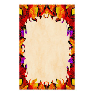 Tile Flower Flame Stationery