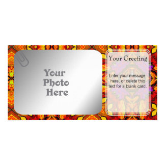 Tile Flower PhotoCard Template Picture Card