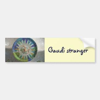 Tile Gaudi stranger Bumper Stickers