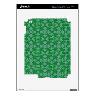 Tile Grey and green iPad 3 Skin