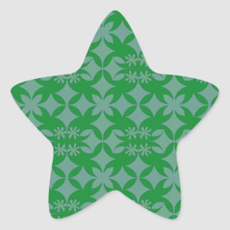 Tile Grey and green Star Sticker
