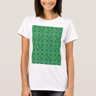 Tile Grey and green T-Shirt