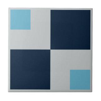 Tile Hip to be Squares Blues Gray Retro geometric