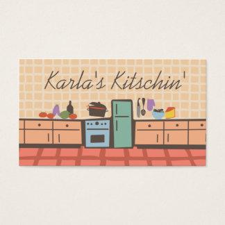 Tile kitchen cooking tomato sauce chef biz card