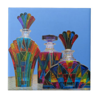 Tile--Murano Glass Decanters Ceramic Tile