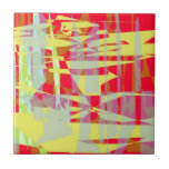 Tile, music, red, yellow, abstract