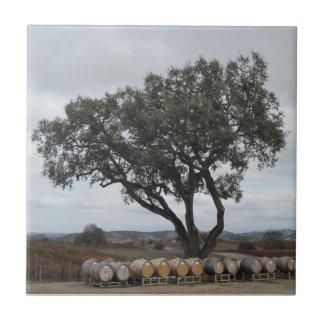 Tile: Oak and Barrels at Doce Robles Vineyard Tile