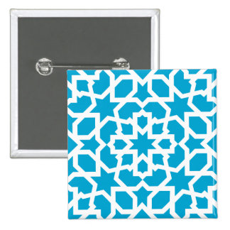 Tile of the Moroccan mosaic in blue Button