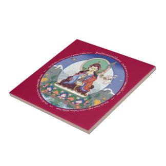 Tile - Padmasambhava  with his mantra