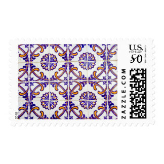 Tile pattern close-up, Portugal Postage