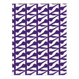 Tile purple postcard