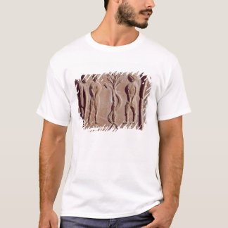 Tile representing Adam and Eve, Roman T-Shirt