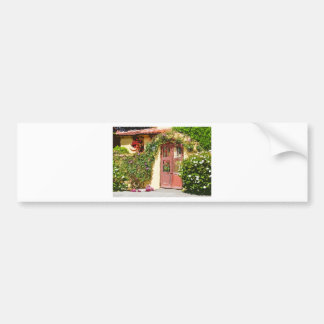 Tile Roof with Gate Walkway Car Bumper Sticker