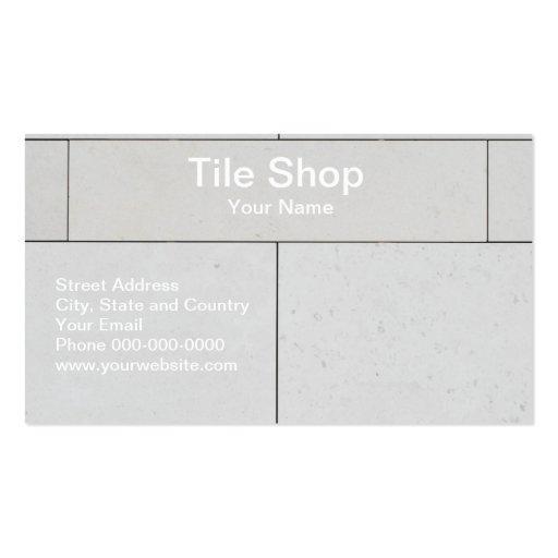 Tile shop business card business card zazzle for Tiler business card