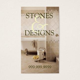 Tile Stone Granite Marble Construction Flooring Business Card