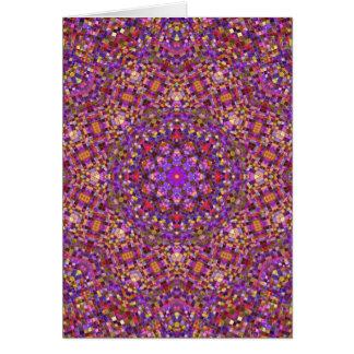 Tile Style Kaleidoscope  Custom Greeting Cards