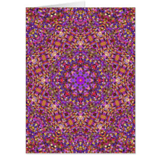 Tile Style Kaleidoscope    Giant Greeting Cards