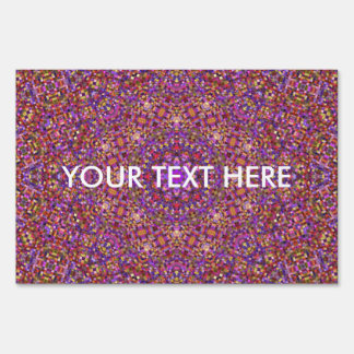 Tile Style Pattern   Yard Signs, 3 sizes Lawn Sign