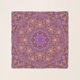 Tile Style Vintage Kaleidoscope  Chiffon Scarf