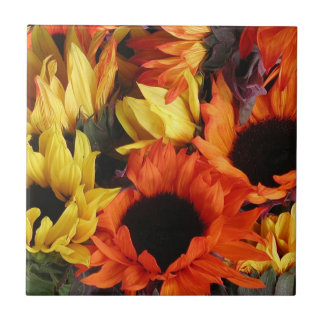 Tile, Sunflowers # 1 Ceramic Tile