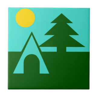 Tile Tent Camp Camping forest pine tree abstract