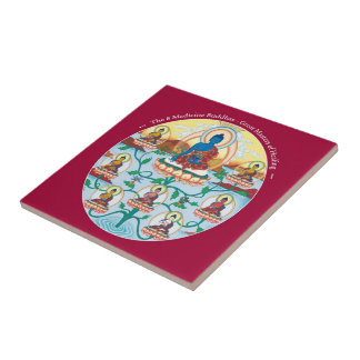 Tile - The 8 Medicine Buddhas - Healing Masters