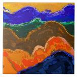 Tile trivet, southwest layers, by DSM