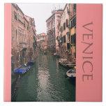 TILE/TRIVET/VENETIAN CANAL SCENE LARGE SQUARE TILE