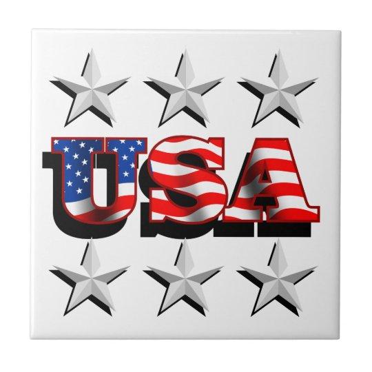 Tile - USA 1 with Stars