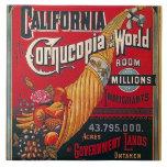 "Tile Vintage California Immigrants &amp; Opportunity<br><div class=""desc"">Vintage California &quot;cornucopia of the world&quot; room for millions of immigrants - opportunity .. great for a gift box,  an accent trivet,  or decoration Tile - Enjoy Tile &amp; Thanks For Stopping By!</div>"