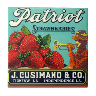 Tile Vintage Kitchen Louisiana Strawberry Label Ad