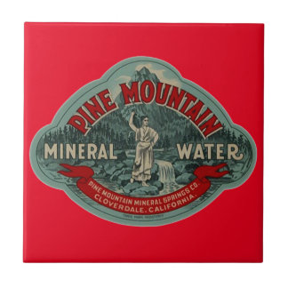 Tile Vintage Pine Mountain Mineral Water Ads Red