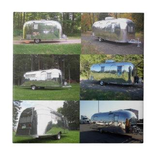 Tile Vintage retro Aluminum Camper Travel Trailers