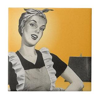 Tile Vintage Retro pretty Suburban housewife lady