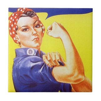 Tile Vintage Rosie the Riveter Iconic Retro Advert