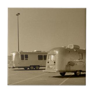 Tile Vintage Shiny Camper trailer & New Generation
