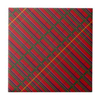 Tile vintage tartain plaid pattern red blue green