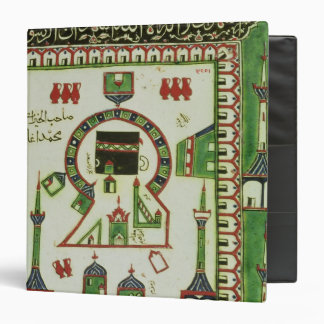 Tile with a representation of Mecca 3 Ring Binder