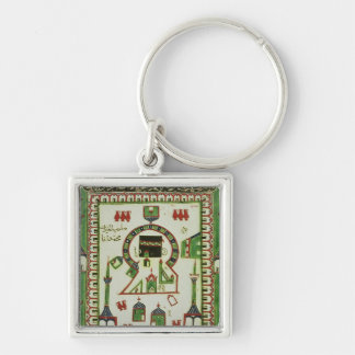 Tile with a representation of Mecca Keychain