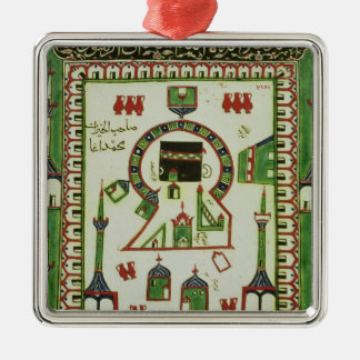 Tile with a representation of Mecca Metal Ornament