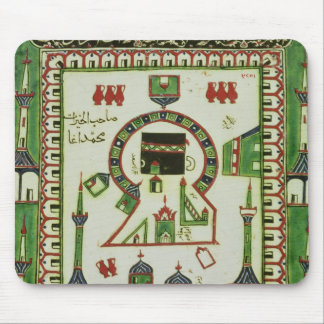 Tile with a representation of Mecca Mouse Pad