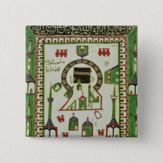 Tile with a representation of Mecca Pinback Button
