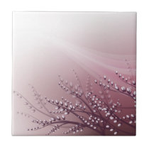 Tile with blossom willow branches