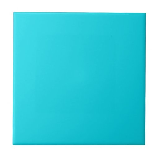 Tile With Bright Neon Teal Blue Background Zazzle: bright blue tile