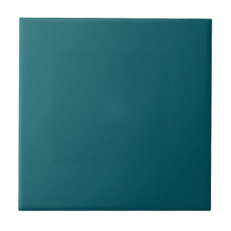 Tile with Dark Teal Green Background