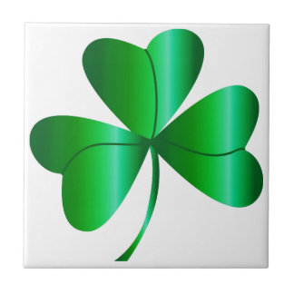 Tile with Green Shamrock